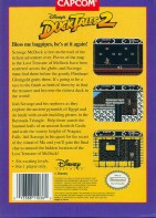 ducktales 2 nes box art back cover