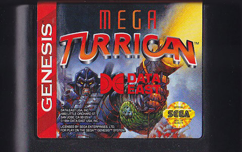 mega turrican genesis cartridge