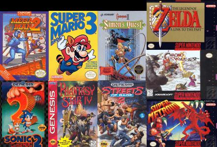 Retro Video Games Box Art