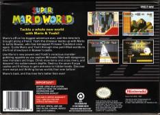 super mario world snes box art back cover